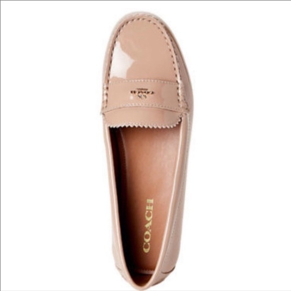 Coach Size 9.5 Warm Blush Loafers New Womens Shoes